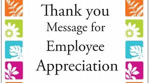 Message work recognize colleague 55+ Thank